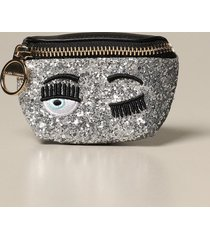 chiara ferragni mini bag chiara ferragni glitter micro belt bag with eyes flirting embroidery