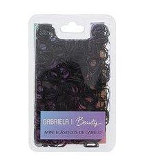 mini elásticos de cabelo gabriela beauty preto