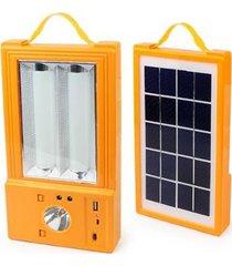 painel solar multiuso holofote lanterna luminária ventilador powerbank camping pescaria