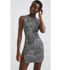 slim sleeveless dress - black - xl