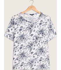 camiseta con estampado de flores-xl
