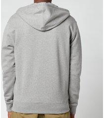 ami men's de coeur zip through hoodie - heather grey - l