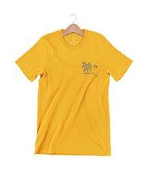 camiseta arimlap blue sea amarelo queimado