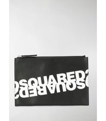 dsquared2 double logo clutch