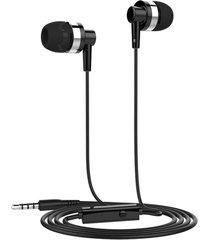audífonos, jd89 deportivos universal estéreo de 3,5 mm y manos sin cuerda manos libres auricular para teléfonos celulares mp3 mp4 sony iphone samsung (negro)
