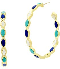 women's freida rothman color theory marquise hoop earrings