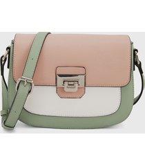 bolso verde-rosa-blanco keddo