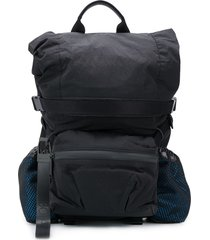 bottega veneta cargo pocket backpack - black