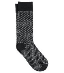 jos. a. bank woven pattern socks, 1-pair - king size