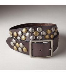 women's two tone pebble path belt