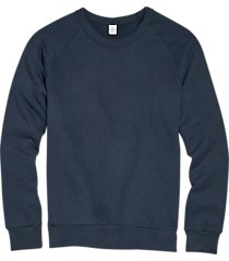 alternative apparel navy modern fit terry sweatshirt