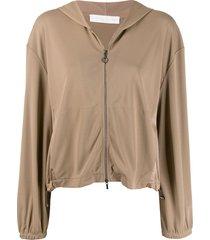 fabiana filippi zipped-up hoodie - neutrals