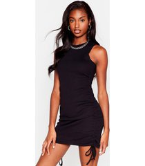 womens cutting all ties fitted mini dress - black