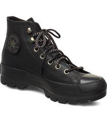 chuck taylor all star höga sneakers svart converse