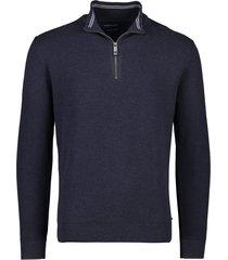 casa moda trui donkerblauw rits