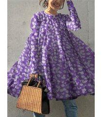camicetta da donna manica lunga con scollo a stampa floreale margherita