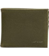 matt & nat rubben folded wallet vintage, olive
