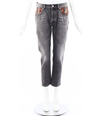 golden goose deluxe brand jolly skinny jeans gray/multicolor sz: 27