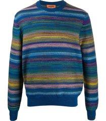missoni marl-knit jersey sweatshirt - blue