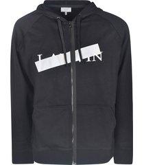 lanvin zipped hoodie