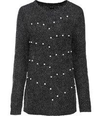 maglione traforato con perle (grigio) - bodyflirt