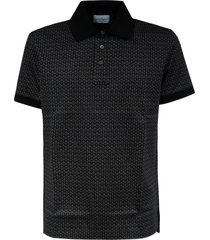 salvatore ferragamo all-over printed slim polo shirt