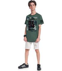 camiseta lemon manga curta verde - verde - menino - algodã£o - dafiti