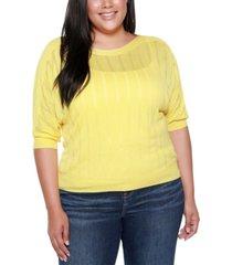 belldini black label plus size boat neck sweater