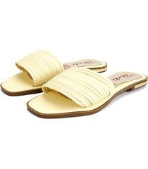 sandalia dama amarillo tellenzi 813