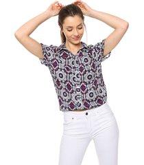camisa violeta donadonna matilde