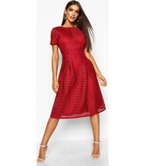 boutique full skirted prom midi dress, berry