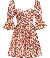 cedro sweetheart-neck bermelo linen mini dress