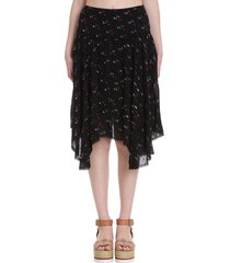 see by chloé skirt in black cotton