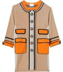burberry loeil trompe dress in cashmere