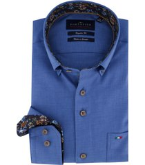blauw overhemd portofino regular fit
