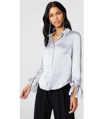 rut&circle maci pleat shirt - silver