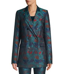 slade empress printed double breasted blazer