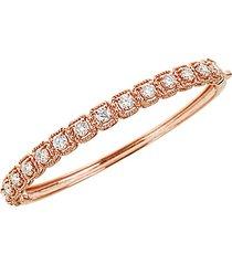 14k rose gold & white diamond bangle bracelet