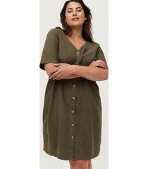 klänning jeasy 1/2 v-neck knee dress