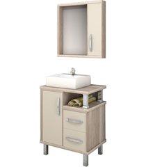 conjunto de banheiro são joão lótus, barrique e nude, 60 cm
