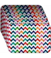jogo americano - love decor  colorful abstract kit com 6 peã§as. - multicolorido - dafiti