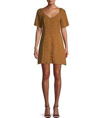 printed puff-sleeve mini dress