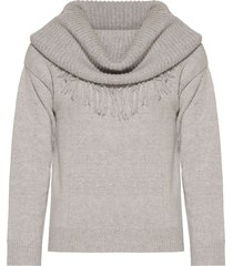 sweater gris liguria flecos