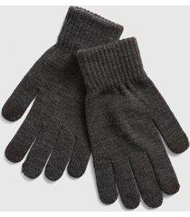 guantes full hombre gris gap