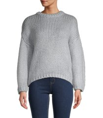 for the republic women's dropped-shoulder knit sweater - natural - size xs