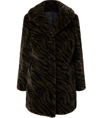 gipsy chandi coat faux fur olive leo