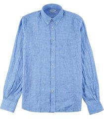 slim fit daniel shirt blauw