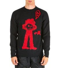 maglione maglia uomo girocollo sketch