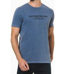 camiseta mc regular frase meia pig gc - azul médio - pp