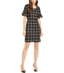 ny collection petite ruffle-sleeve tie-back dress